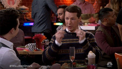 """""""I have been told I look important when I do this."""" #WillAndGrace"""