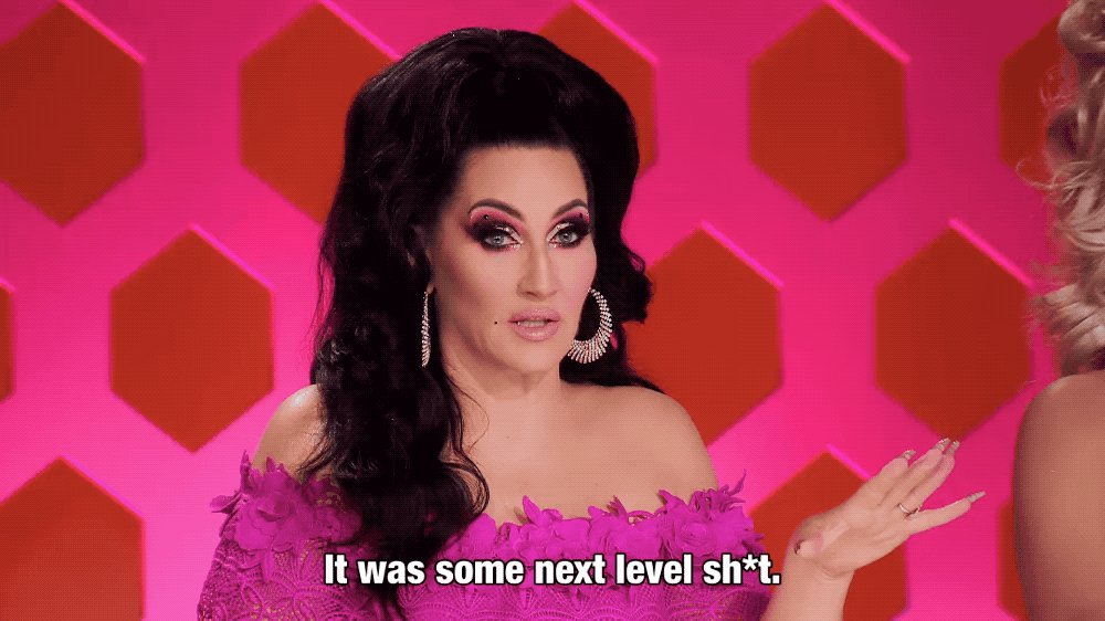 Me this entire episode tbh these girls are IT 💕 @michellevisage #DragRace