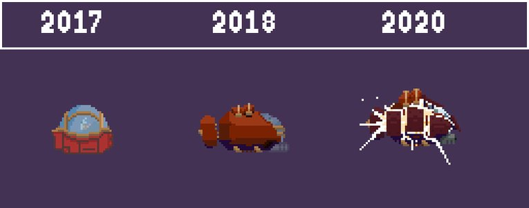 This is what progress looks like. #DepthsofSanity has come a long way these last few years, and we can't wait to show you our latest demo next week at #PAXEast.  #indiedev #bostondev #pixelartist #pixelart