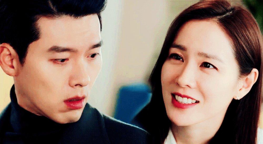 """""""little hyeoky, are you jealous?"""" """"no!""""  yes he is and he is a babyyyy 🥺♥️🥰  #crashlandingonyou • #hyunbin • #sonyejin"""