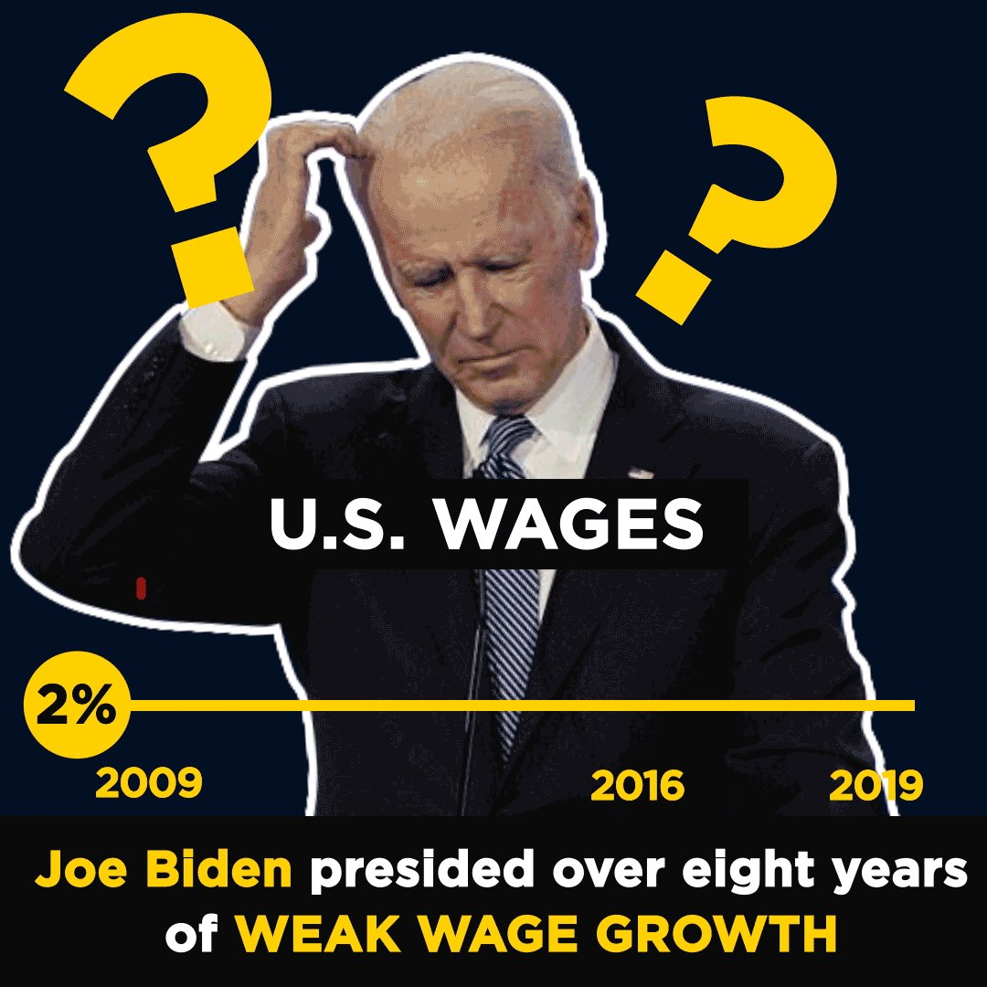 Under Joe Biden, American manufacturing jobs went away and American paychecks went nowhere - they just stayed the same.   American workers deserve better than that.