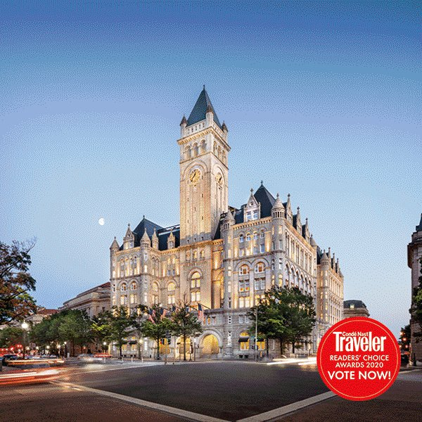 Vote for Trump Hotels in Condé Nast Traveler's 2020 Readers' Choice Awards! Cast your vote now at  to share what you loved about your favorite Trump Hotels!