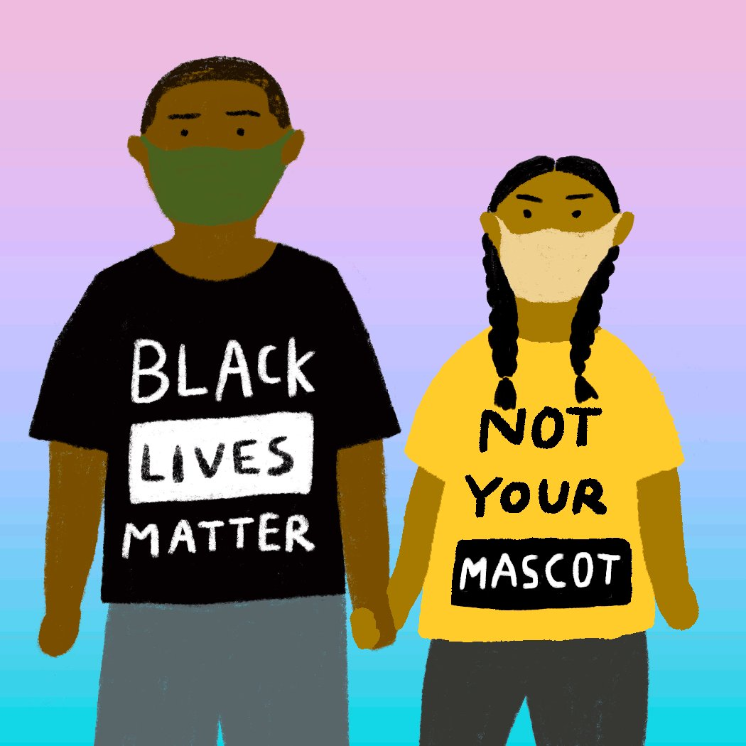 We have power when we support each other. It's going to take all of us working together to dismantle systemic racism and demand equity. Download more anti-racist gifs ➡️     Spread the word!  #FightRacism #BlackLivesMatter #NotYourMascot