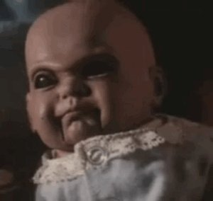#WhatsYourCaption?  WE HAVE SOME VERY CREATIVE #HORROR FANS!  SO REPLY WITH YOUR FUNNY CAPTION! (read through and be sure to like and RT your faves)  Mine is: Such a cute baby...