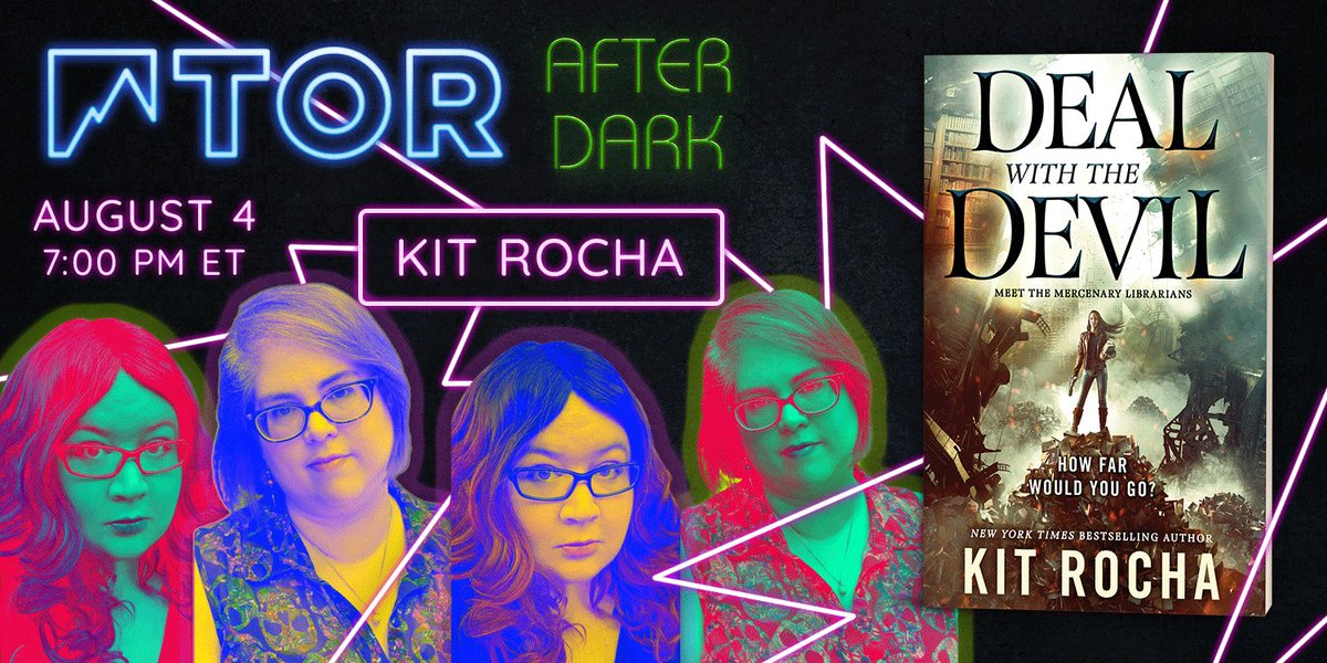 TONIGHT- We are so, SO excited to have @KitRocha (#DealWithTheDevil) taking over our Instagram for #TorAfterDark! Got questions for the duo? Ask in the replies for the chance to see them answered LIVE at 7 PM ET!