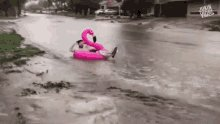 Mother Nature is working overtime. Already 3 inches of rain has fallen in the region this morning, with another 1-2 inches expected before noon.  Sure, the floating flamingo is fun — but we're not kidding when we ask you to PLEASE #BeSafeOutThere  #TurnAroundDontDrown #WeCare