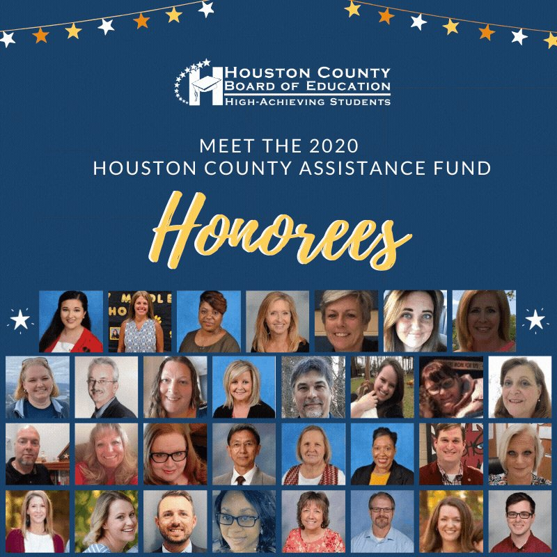 Thirty-one teachers of gifted and talented students from 13 schools were honored Sept. 9. Each honoree received $500 & a certificate as a recipient of the Houston County Education Assistance Fund on behalf of the Manoj H. Shah family.  Meet the honorees > .
