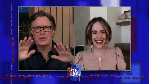 .@MsSarahPaulson stars in @RatchedNetflix and she'll join us on A Late Show tonight! #LSSC