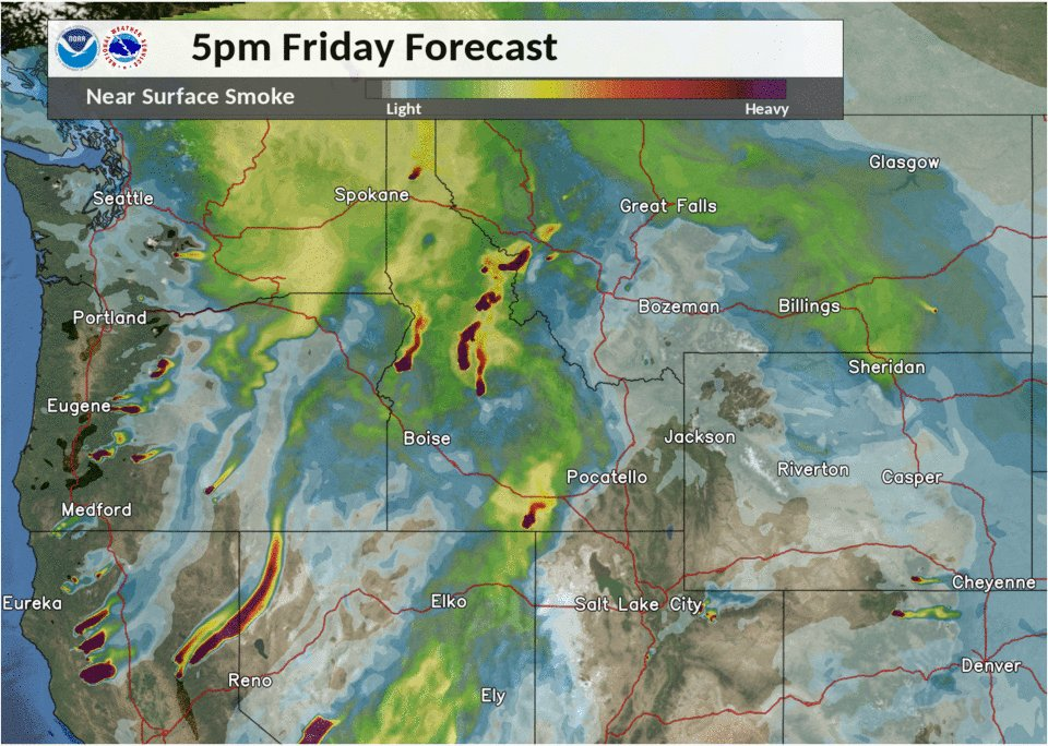 A Pacific cold front will help to clear out some of the smoky skies in our area on Saturday. #mtwx #wywx