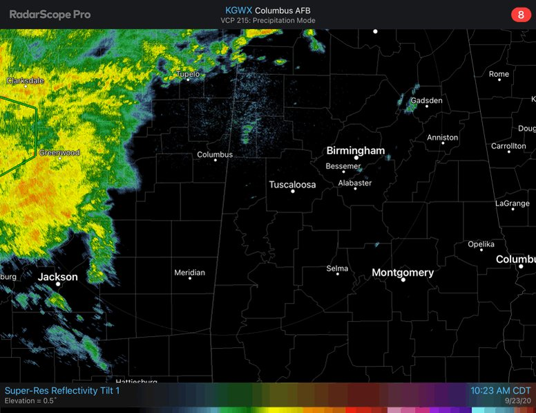 📡 Update: The large mass of rain over Mississippi will enter the western counties of Central AL later today and become widespread overnight into tomorrow. Highest rainfall amounts will be found northwest of the Birmingham area. #alwx