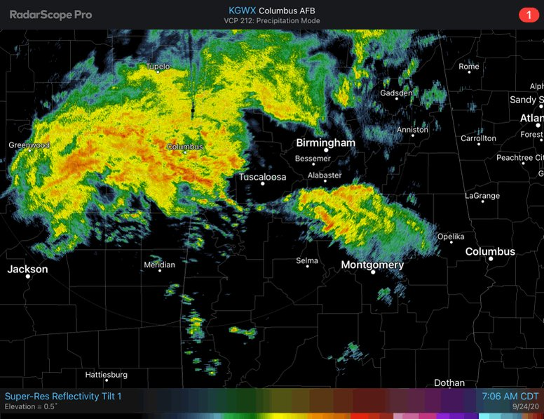 Nearly an inch and a half of rain has fallen in NW Central AL with 2 more inches possible through the day. Elsewhere, most areas will see rain even if for a short period. We'll continue to monitor for isolated flooding and potentially a couple strong storms this afternoon. #alwx