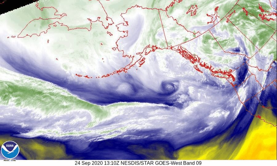 Upper level Jet stream across the Pacific shows up nicely in this #GOES17 satellite animation. Several disturbances within this band of fast winds aloft will ripple east across the northern Rockies and MT this weekend, bringing additional periods of strong and gusty winds. #MTwx