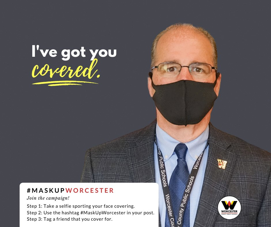 Our leadership team has @WorcesterCounty and @WorcesterSystem covered!   Simply snap a selfie sporting your face covering, tag a friend who you cover for, and post it to your social media using the hashtag #MaskUpWorcester.