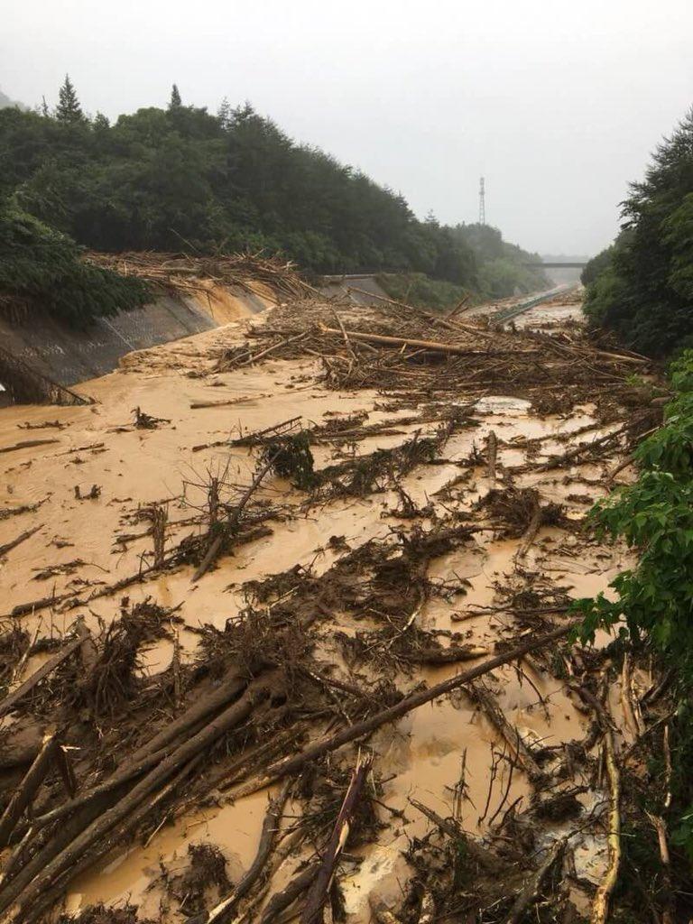 Dhe84a9VMAArT U - 【ダレカキテーダレカキテー】広島 三原で浸水被害 ツイッターに救助求める声相次ぐ