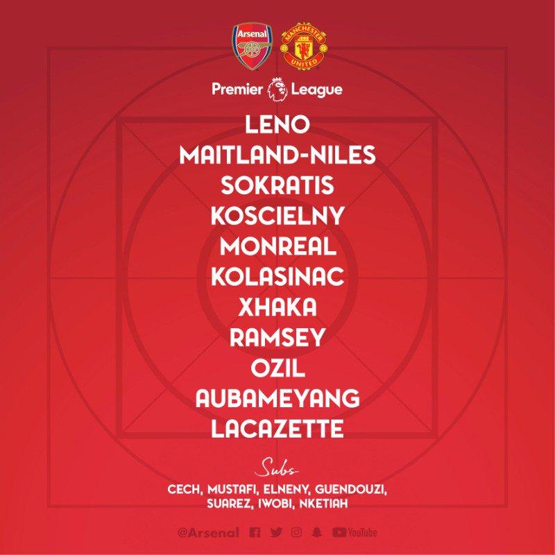 Line Up Arsenal