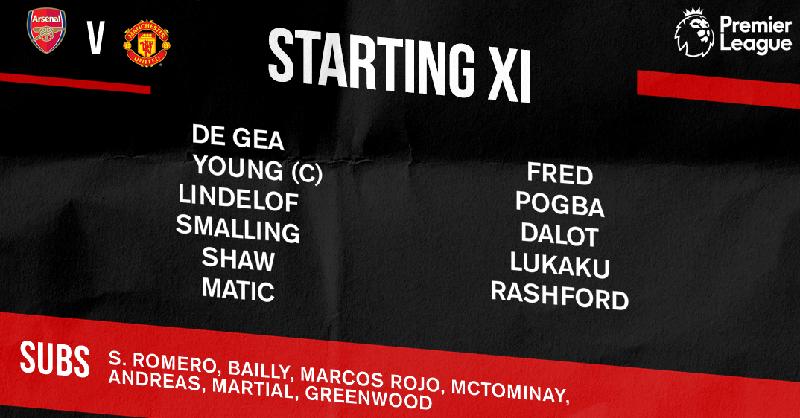 Lineup Man United