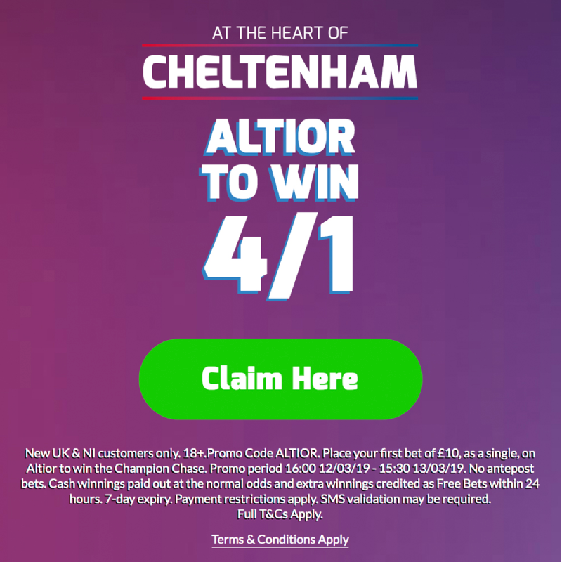 Betfred Cheltenham Price Boost