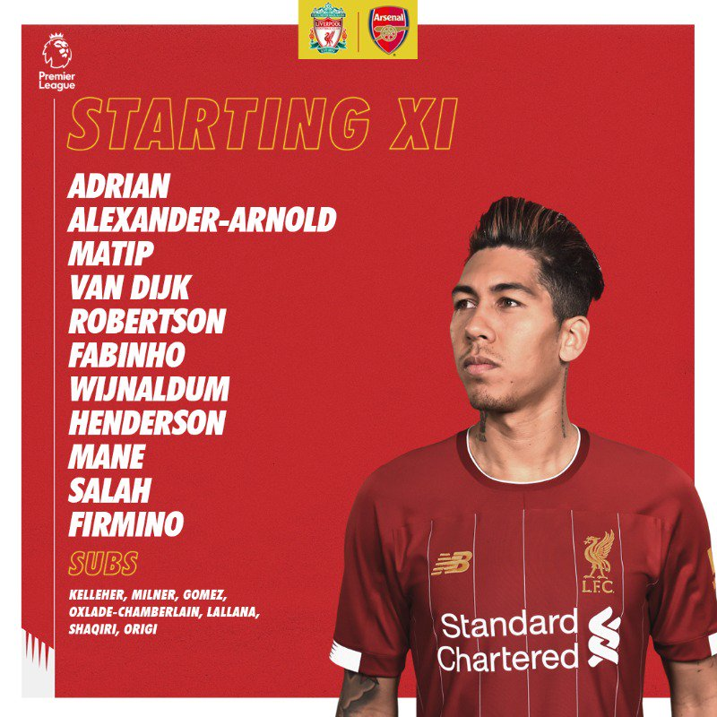 Starting XI Liverpool