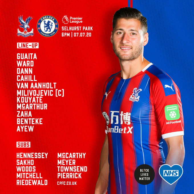 Starting Xi Crystal Palace