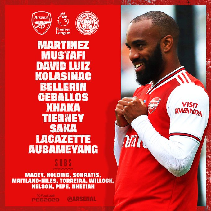 Starting Xi Arsenal
