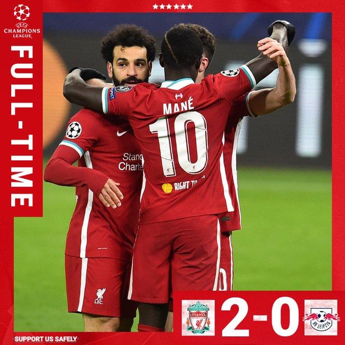 Skor akhir Liverpool 2-0 R Leipzig