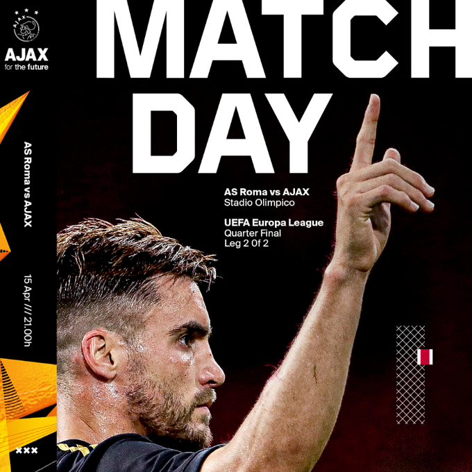 Leg 2 Perempat Final Liga Europa 2020-2021 AS Roma vs Ajax Amsterdam