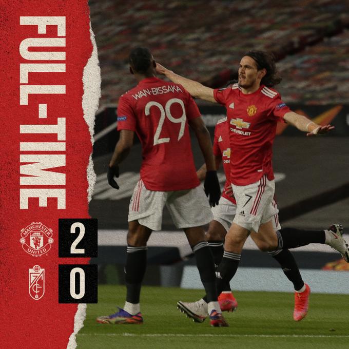 Skor akhir Manchester United 2-0 Granada
