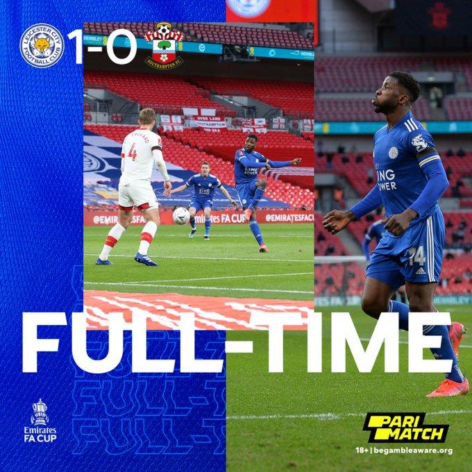 Skor akhir Leicester City 1-0 Southampton