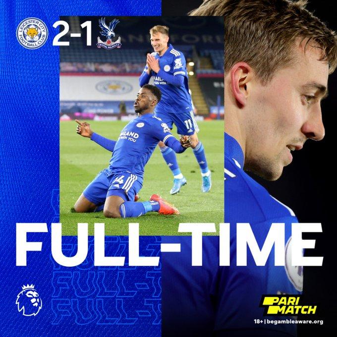 Skor akhir Leicester City 2-1 Crystal Palace