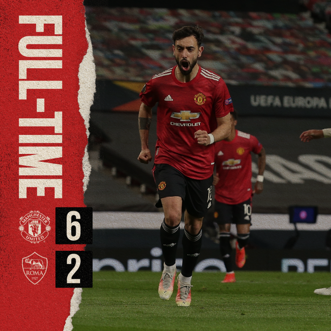 Skor akhir Manchester United 6-2 AS Roma