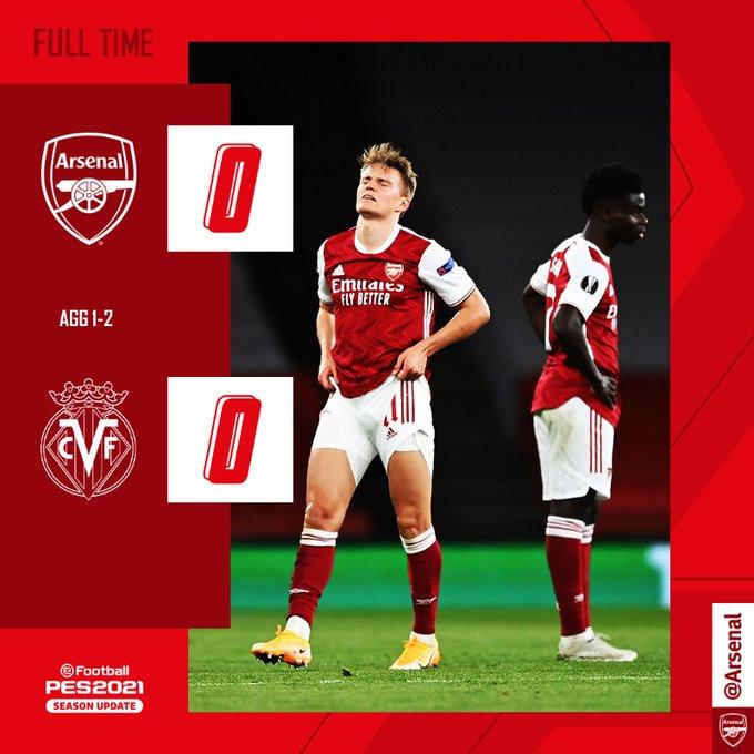 Skor akhir Arsenal 0-0 Villarreal di leg 2 semifinal Liga Europa 2020-2021