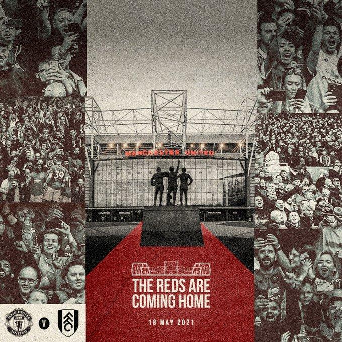 Laga terakhir Manchester United di Old Trafford melawan Fulham akan dihadiri penonton