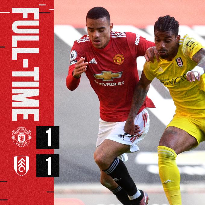 Skor akhir Manchester United 1-1 Fulham