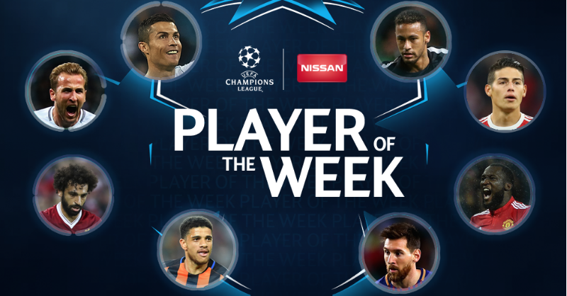 Тайсон наряду с Месси, Неймаром и Роналду номинирован на Игрока недели Лиги чемпионов