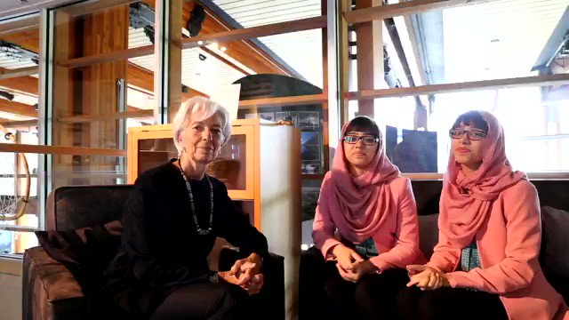 If youre asking me where I would invest for the future, I would invest in girls education. — Christine @Lagarde, Managing Director of IMF in conversation with teen reporters @theworldwithmnr 👇🏽