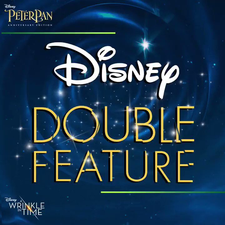 Make it a double feature with the entire family and experience the timeless Disney magic of A #WrinkleInTime: di.sn/6004DTMQi and #PeterPan: di.sn/6005DwdvJ