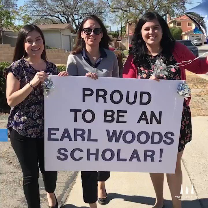 Jesse Aguirre and his family recently got a surprise visit from #TGRFoundation with news of his acceptance into the Earl Woods Scholar Program. Congratulations, Jesse! #UnrelentingChampions