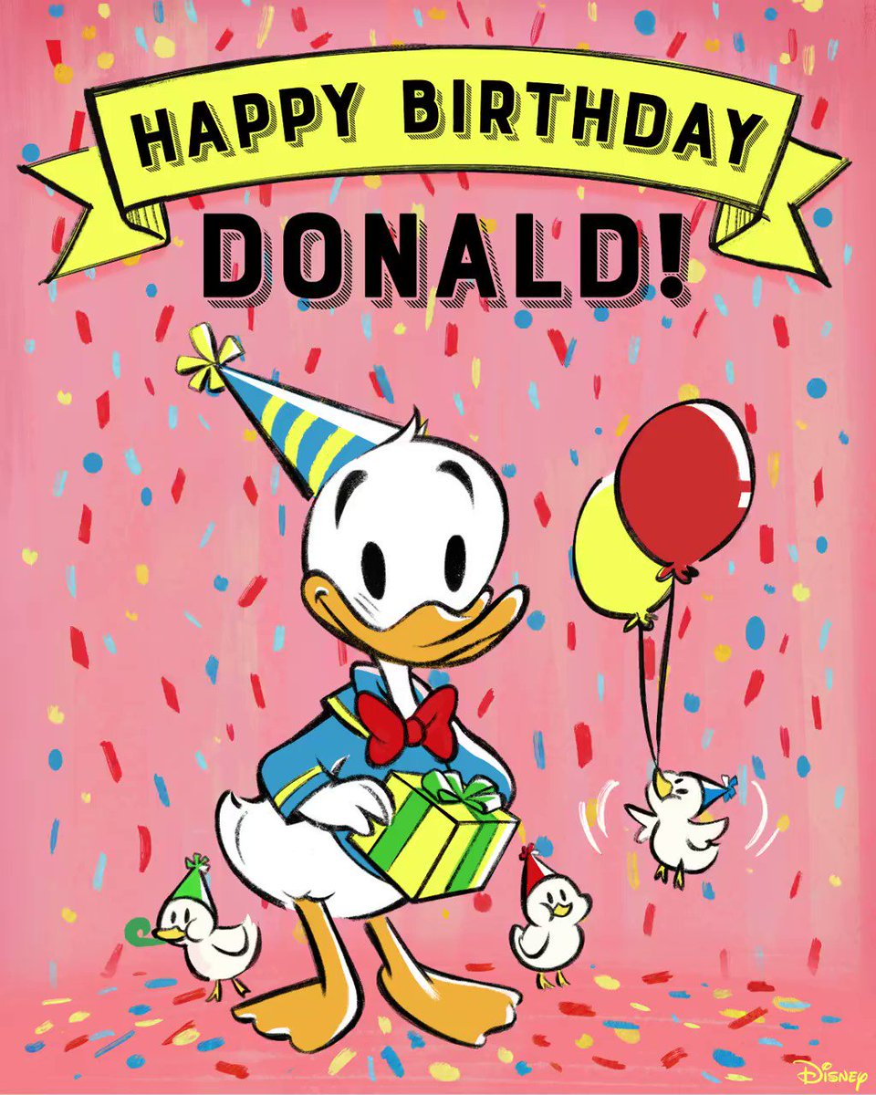 A celebration to quack about! Happy Birthday #DonaldDuck!
