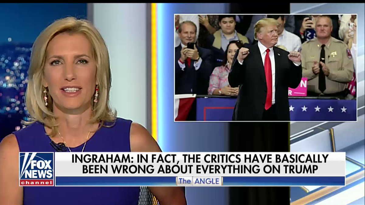 .@IngrahamAngle: 'The left still will not give [@POTUS] a shred of credit.' https://t.co/kcsttho8oH