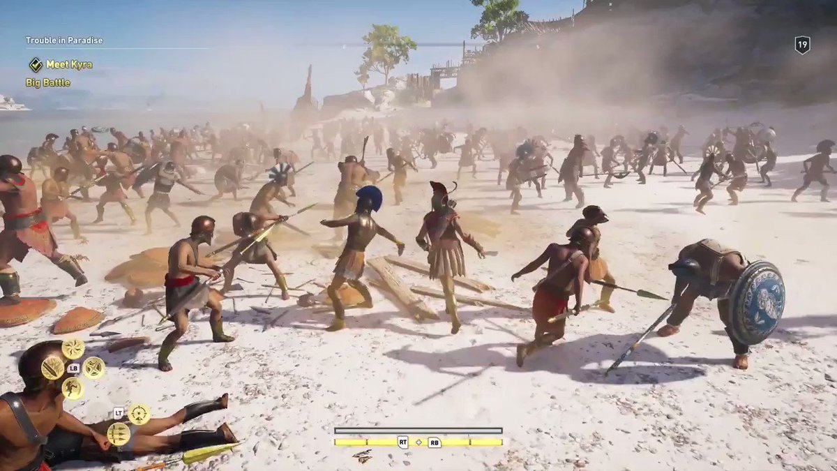 Ok this looks awesome. 🏹 Assassins Creed Odyssey launches Oct 5th on PC. #GameReady #E3