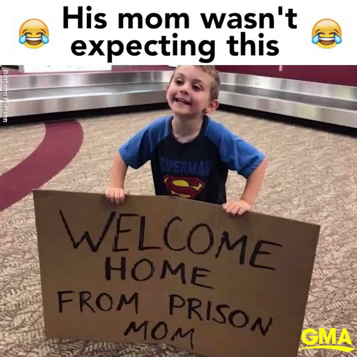 4-year-old welcomes mom home from business trip at the airport with hilarious sign �� https://t.co/rBGJmsRHuX https://t.co/Jt3MaVcYls