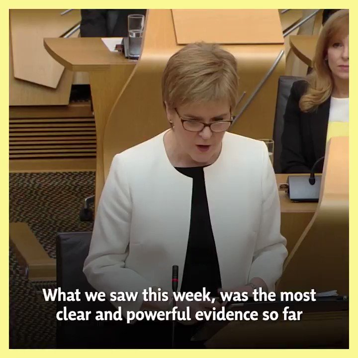 .@NicolaSturgeon: What we saw this week, was the most clear and powerful evidence so far that the Westminster system simply does not work for Scotland. #FMQs