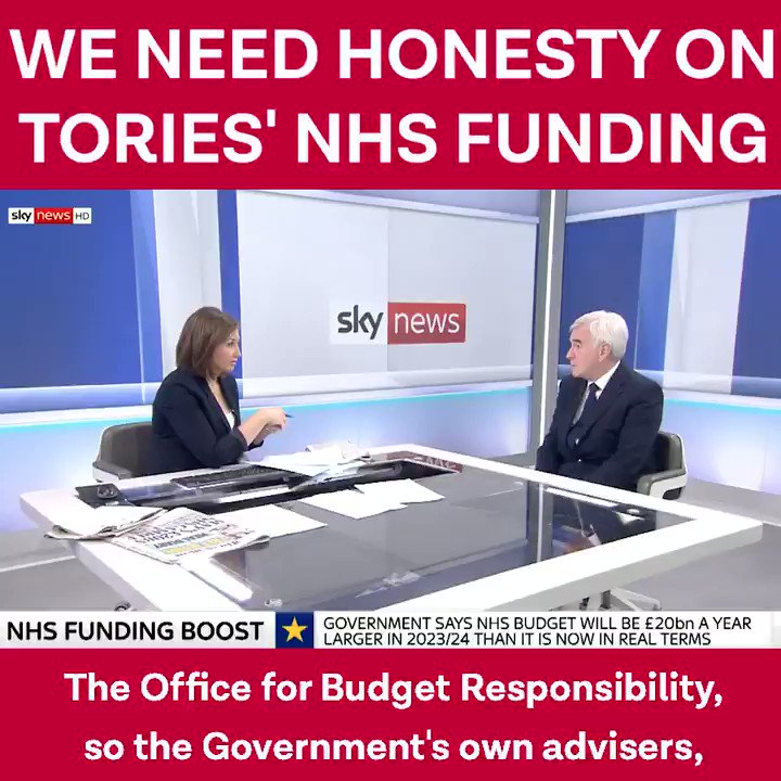 The Conservatives have caused the crisis in the NHS by underfunding it. And now they are making funding announcements that arent credible. #Marr #Ridge #bbcdp
