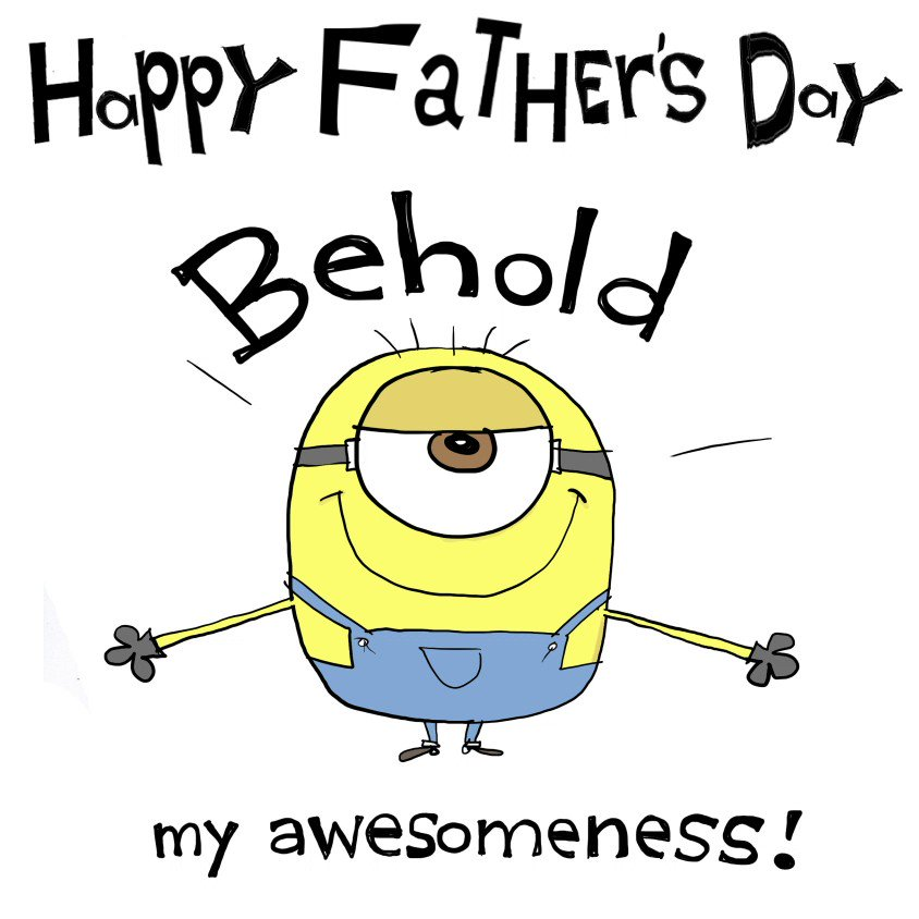 Awesomeness runs in the family. #HappyFathersDay #Minions