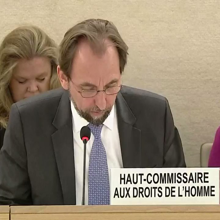UN Human Rights commissioner: In the United States, Im deeply concerned by recently adopted policies which punish children for their parents' actions ... The thought that any State would seek to deter parents by inflicting such abuse on children is unconscionable.