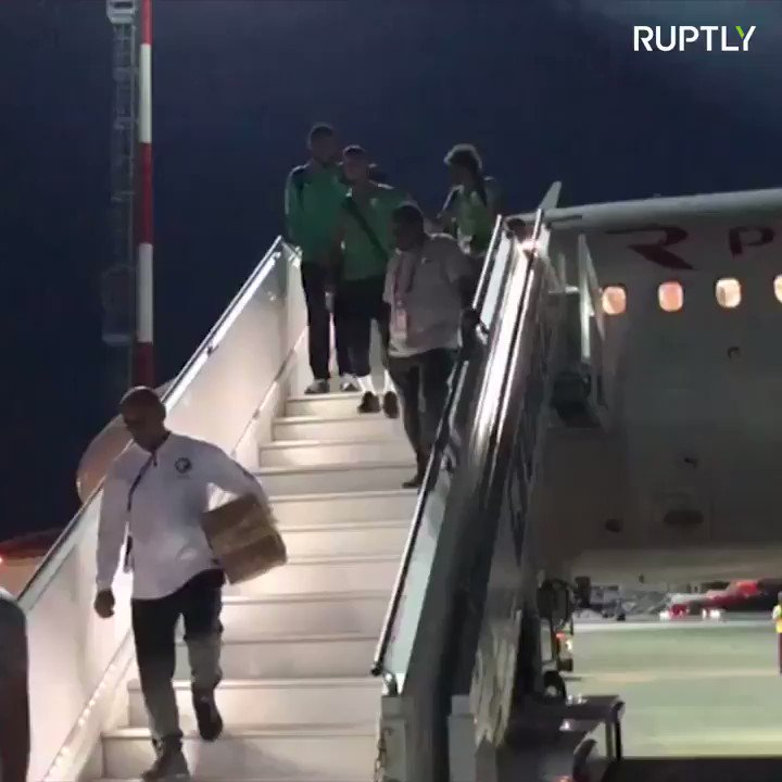 Saudi squad land safely in Rostov after plane catches fire in flight https://t.co/177sf0nWp9