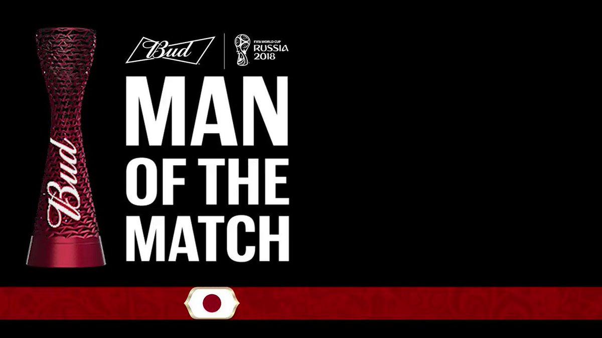 The @Budweiser #ManoftheMatch for #COLJPN is Yuya Osako!   #WorldCup https://t.co/4qvJuWRf8p