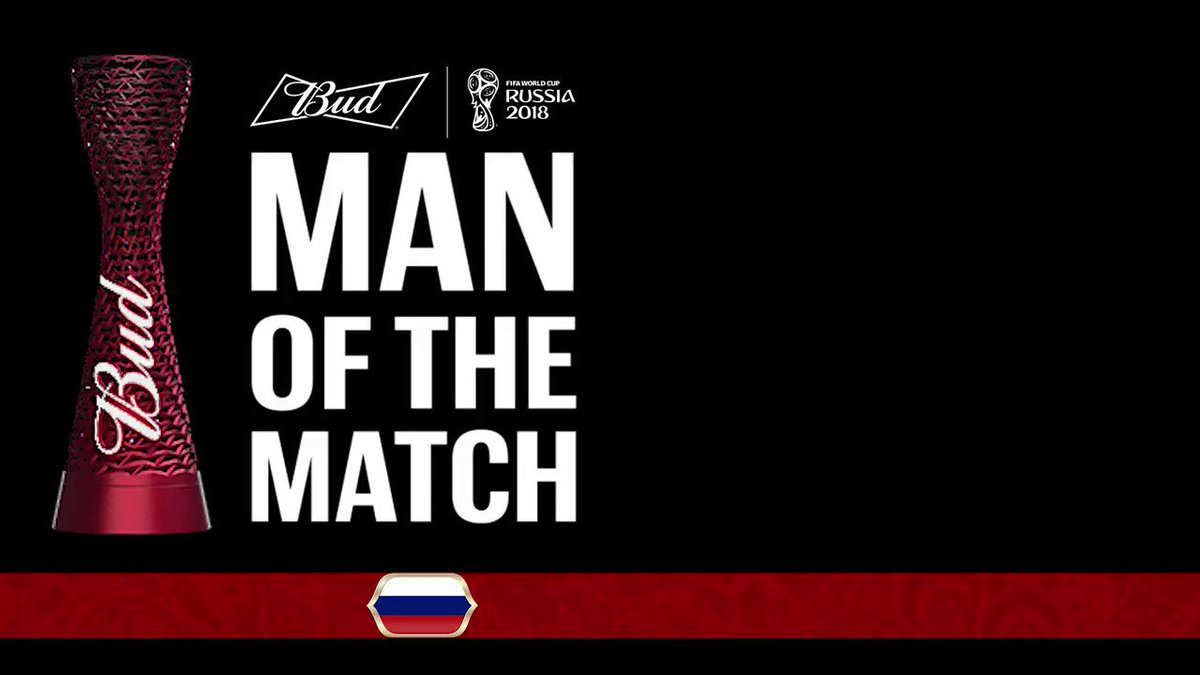 For the second time in this #WorldCup, the @Budweiser #ManoftheMatch is @TeamRussias @Cheryshev! #RUSEGY