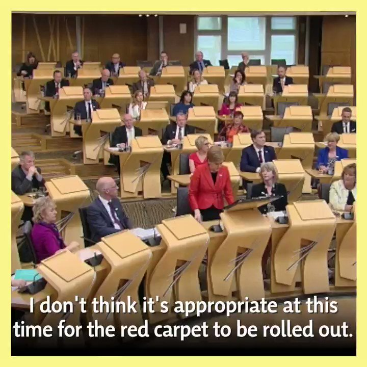 Theresa May shouldnt be rolling out the red carpet for President Trump. #FMQs