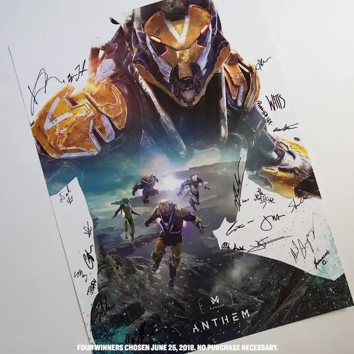 Customize your wall with a signed poster from the #AnthemGame team. RT to enter. https://t.co/7HuImVBlq5